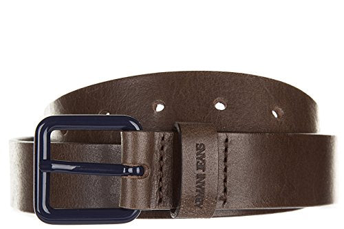Armani Jeans men's genuine leather belt ardiglione brown US size 36 931024 6A833 00153