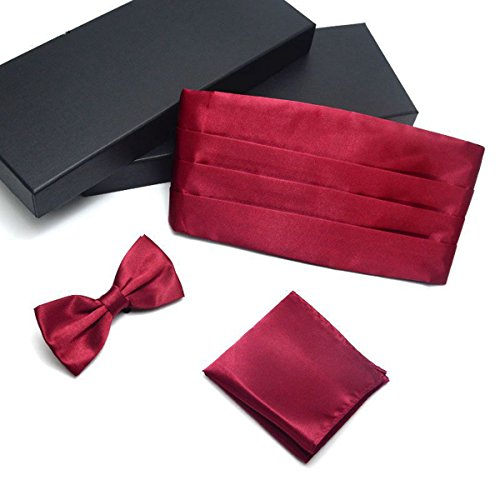 China Palaeowind Men39;s Dresses Girdle Tie Pocket Towel Tuxedo Suit Waist,Burgundy