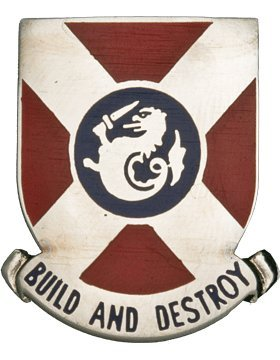 391st Engineer Bn Unit Crest (Build And Destroy)