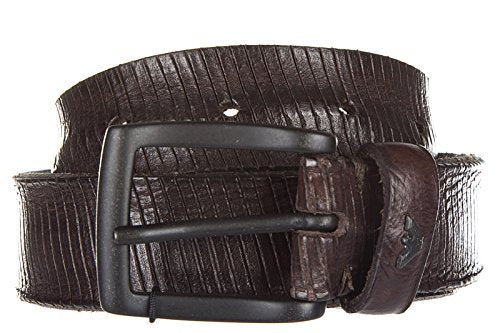 Armani Jeans men's genuine leather belt ardiglione brown US size 34 931068 7P834 06153