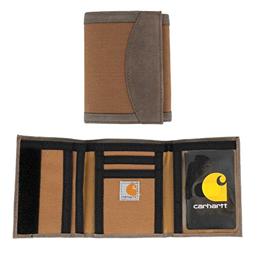 Carhartt Men's 61-2233 Hook & Loop Trifold Wallet - One Size Fits All - Carhartt Brown