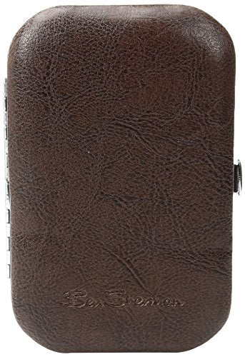 Ben Sherman Men's Edgeware 6-Piece Personal Grooming Set with Carrying Case, Brown, One Size