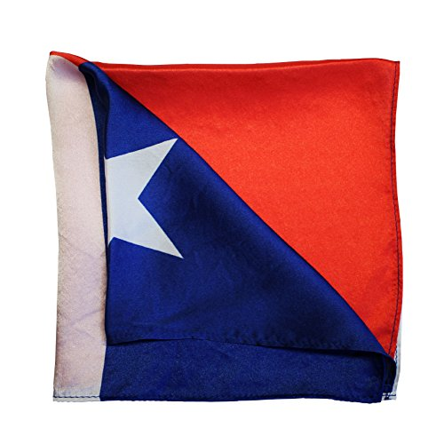 American Pocket Square Co. 100% Silk Texas Flag Red White and Blue 15'' x 15'' Pocket Square (Mr. Houston)