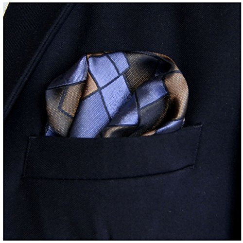 Mens Hankies Hanky Bronze Geometrical Pocket Square For Men
