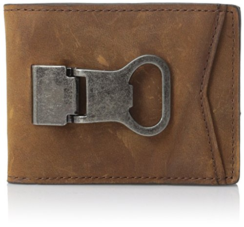 Nocona Men's Double Bifold Money Clip, Brown, One Size