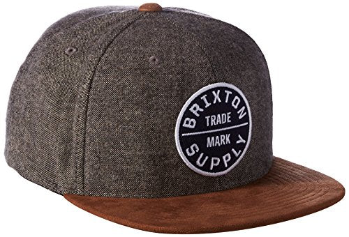 Brixton Men's Oath Iii Snapback, Grey/Copper, One Size