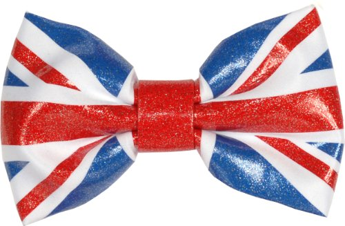 "Accessories4men Men's Ready Tied Bow Tie Bt Union Jack Flag Bow Tie 14-19"" Neck Red White And Blue"