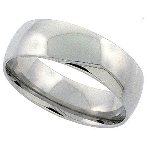 SODIAL(R)Sterling Silver Plain Band Comfort Fit Ring Solid 925 -3mm,17.3mm
