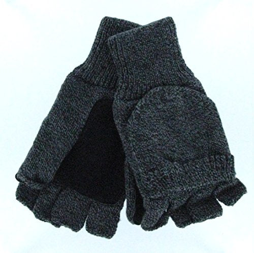 Convertible Mittens with Suede Leather Palm Patch - Thermal Lining (Women's)