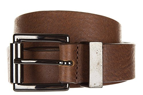 Armani Jeans men's genuine leather belt ardiglione brown US size 36 931015 6A804 00153