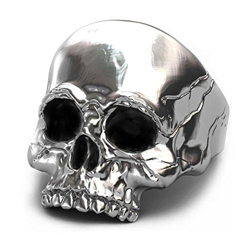 EVBEA Keith Richards Skull Ring Big Statement Gothic Skull Face Mens Rings (11)