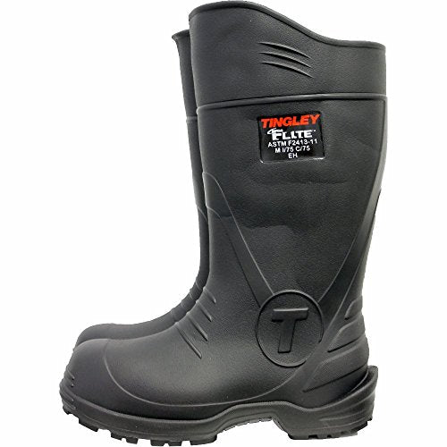 Tingley Rubber Corp Mens Flite Comp Toe Knee Rubber Boot Size 12 12 Black