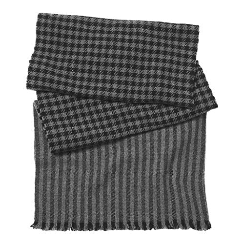 Coach Men's Houndstooth Cashmere Wool Scarf Gray Black $168