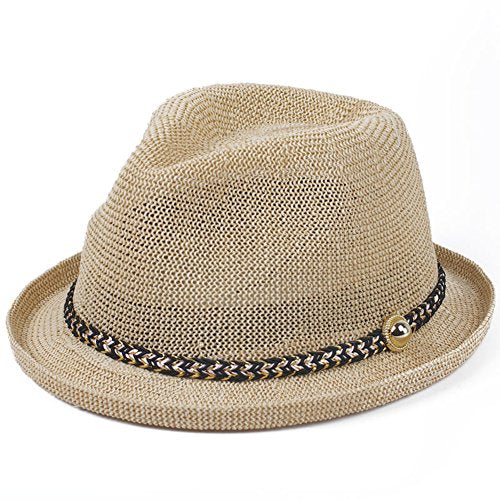 Straw Hats/Small Korean Fashion Sun Visor Hat/England Vintage Hats/Anti-sai Hats-C One Size