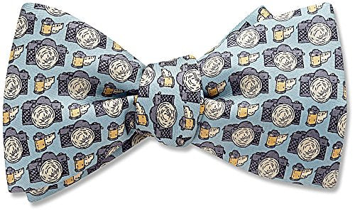 35mm Blue Pictorial, Men's Bow Tie, by Beau Ties Ltd of Vermont