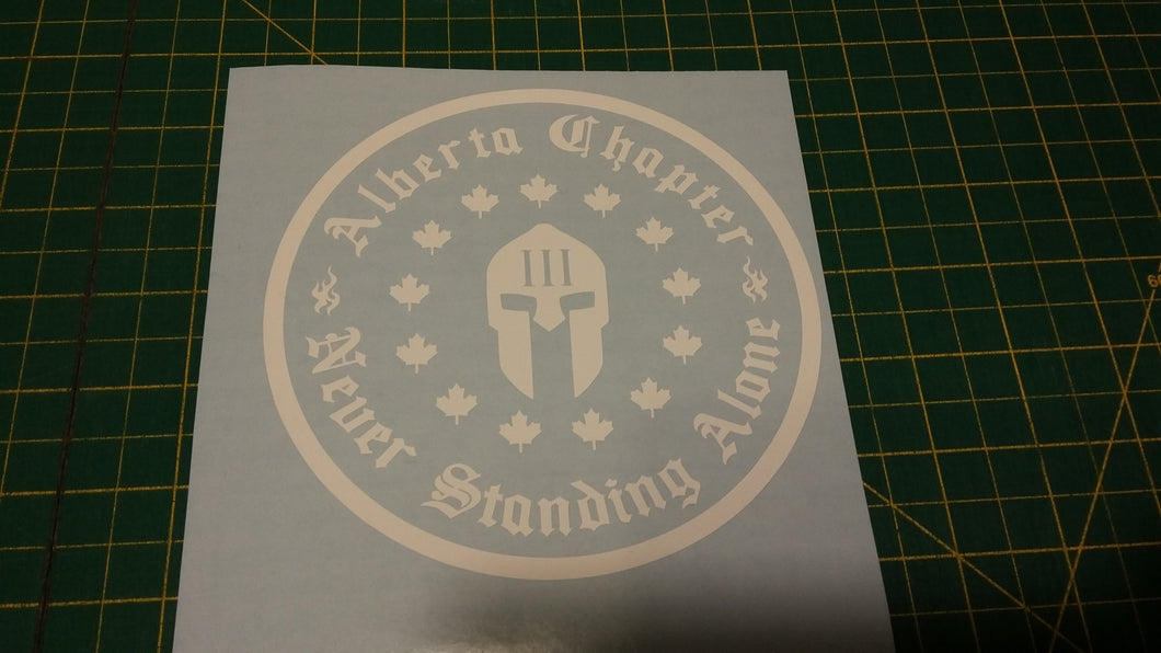 Alberta Chapter Decal