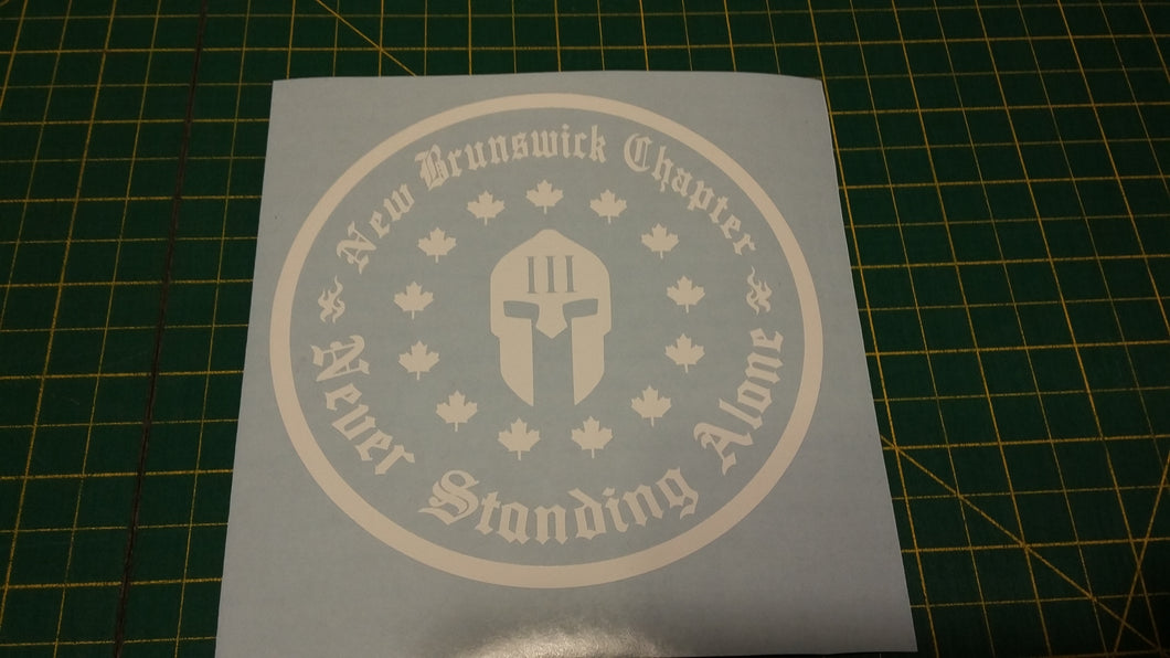 New Brunswick Chapter Decal