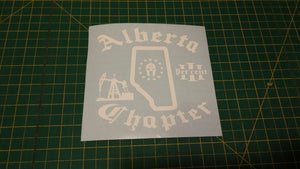 Alberta Chapter Map Decal