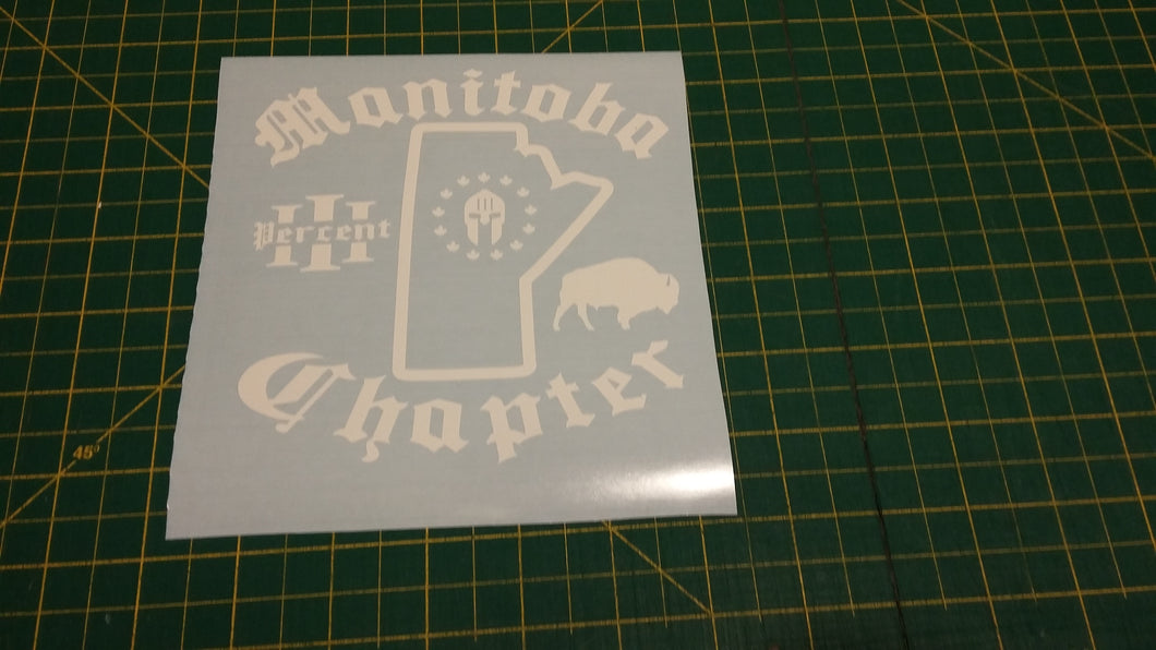 Manitoba Chapter Map Decal