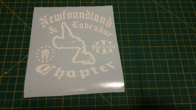 Newfoundland & Labrador Chapter Map Decal