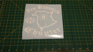 New Brunswick Chapter Map Decal