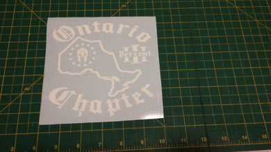 Ontario Chapter Map Decal