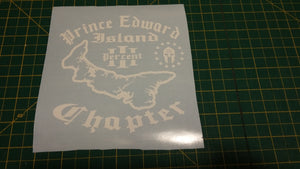 Prince Edward Island Chapter Map Decal