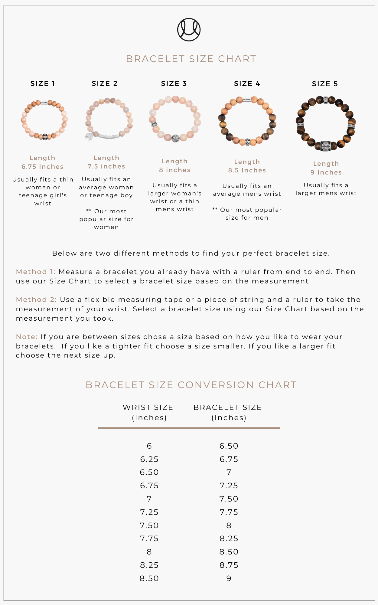 Lia Lubiana - Sizing Guide