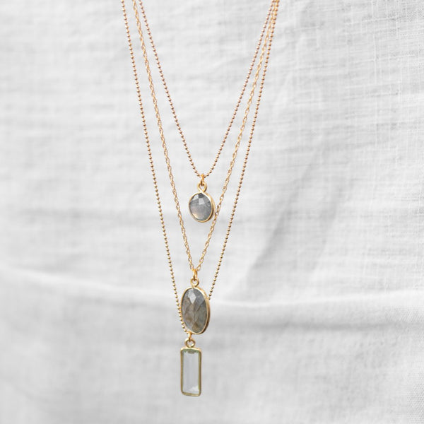 Cielo Necklace | Green Quartz - Lia Lubiana