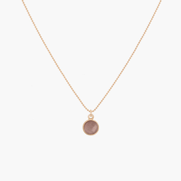 Vita Necklace | Peach Moonstone