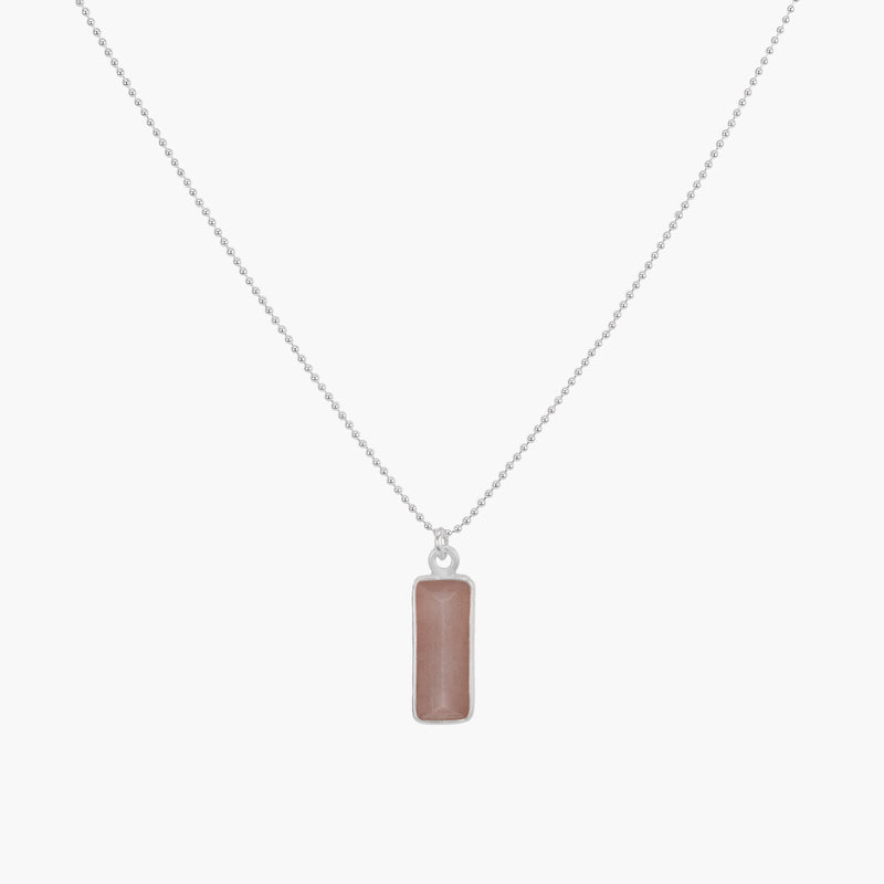 Cielo Necklace | Peach Moonstone