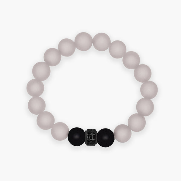 Rose Quartz & Onyx Bracelet - R&O Duo