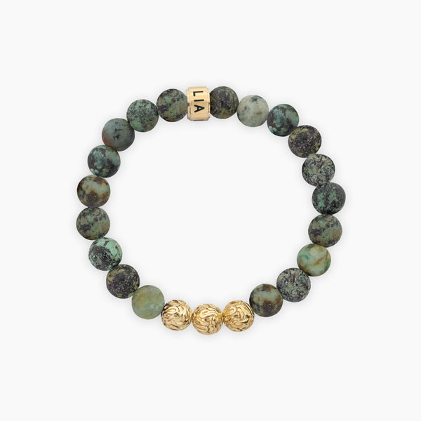 African Turquoise Harmony | Gold Vermeil - Lia Lubiana