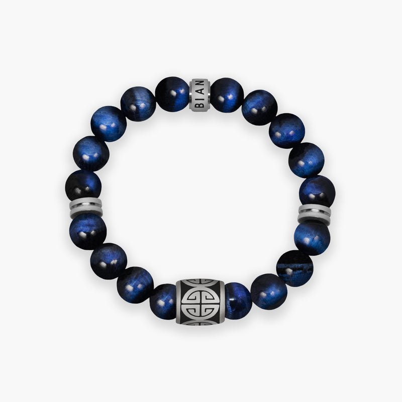 Blue Tigers Eye Bracelet - Summit - Lia Lubiana