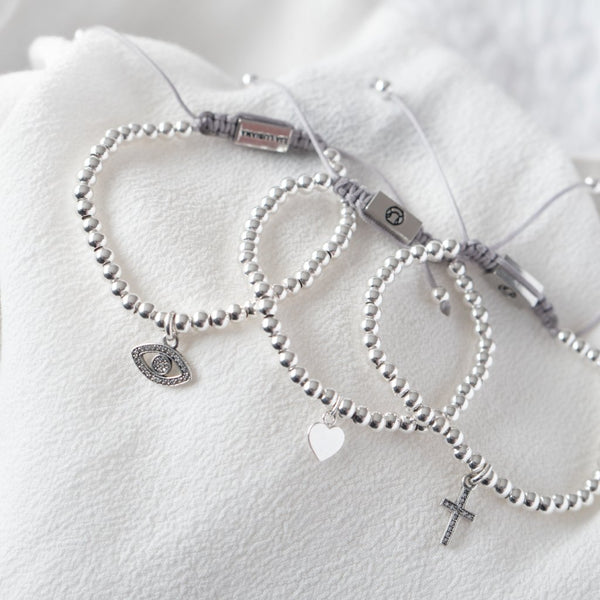 Cross Bracelet - Sterling Silver