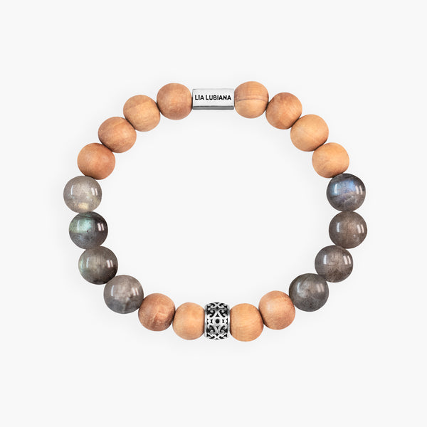 Labradorite & Sandalwood (Large Beads) - Terra