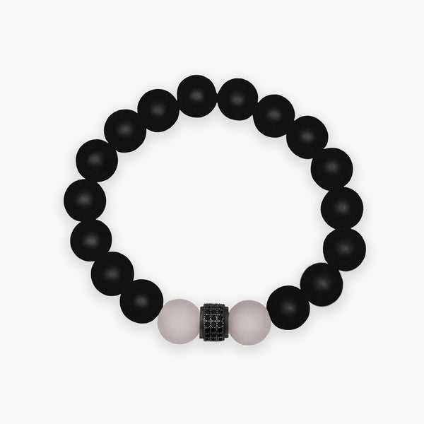 Onyx & Rose Quartz Bracelet - R&O Duo
