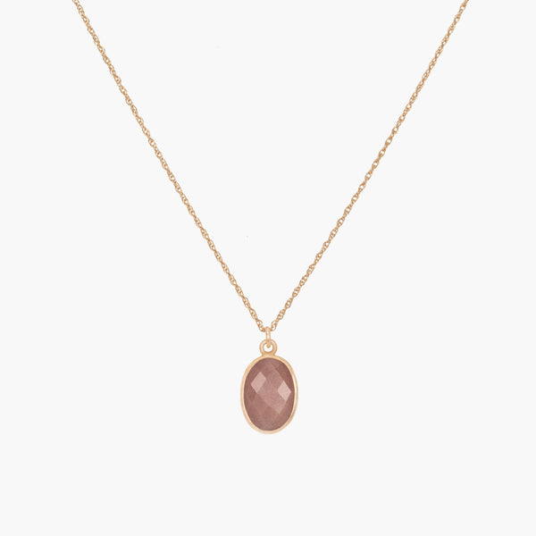 Mare Necklace | Peach Moonstone - Lia Lubiana