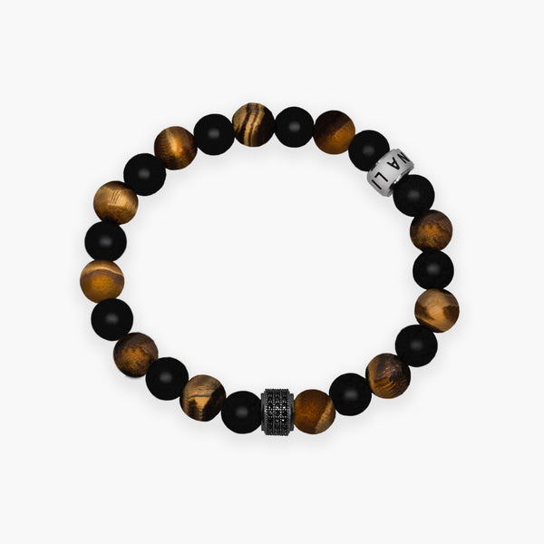 Tiger & Onyx Single Bracelet - T&O Trio