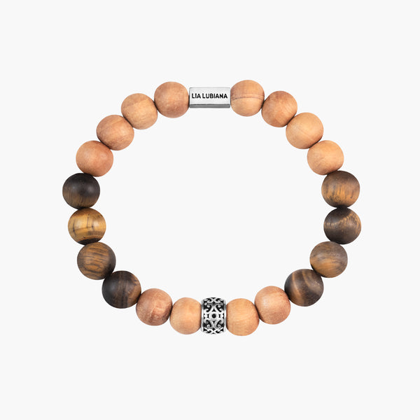 Tiger Eye & Sandalwood Bracelet - Terra