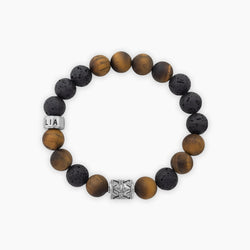 Tiger's Eye & Lava Catan | Sterling Silver - Lia Lubiana