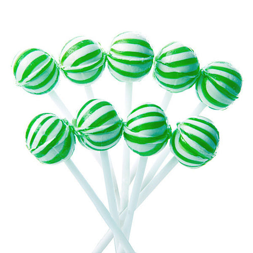 Green Mini Ball Lollipops