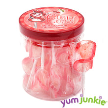 CurlyCutes Petite Crystal Ribbon Pops - Red Cherry: 20-Piece Jar