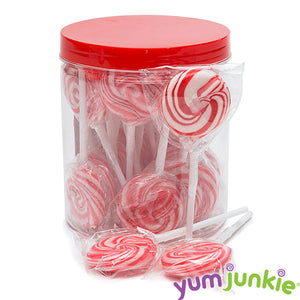 Red Swirl Lollipops