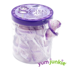 CurlyCutes Petite Crystal Ribbon Pops - Purple Grape: 20-Piece Jar