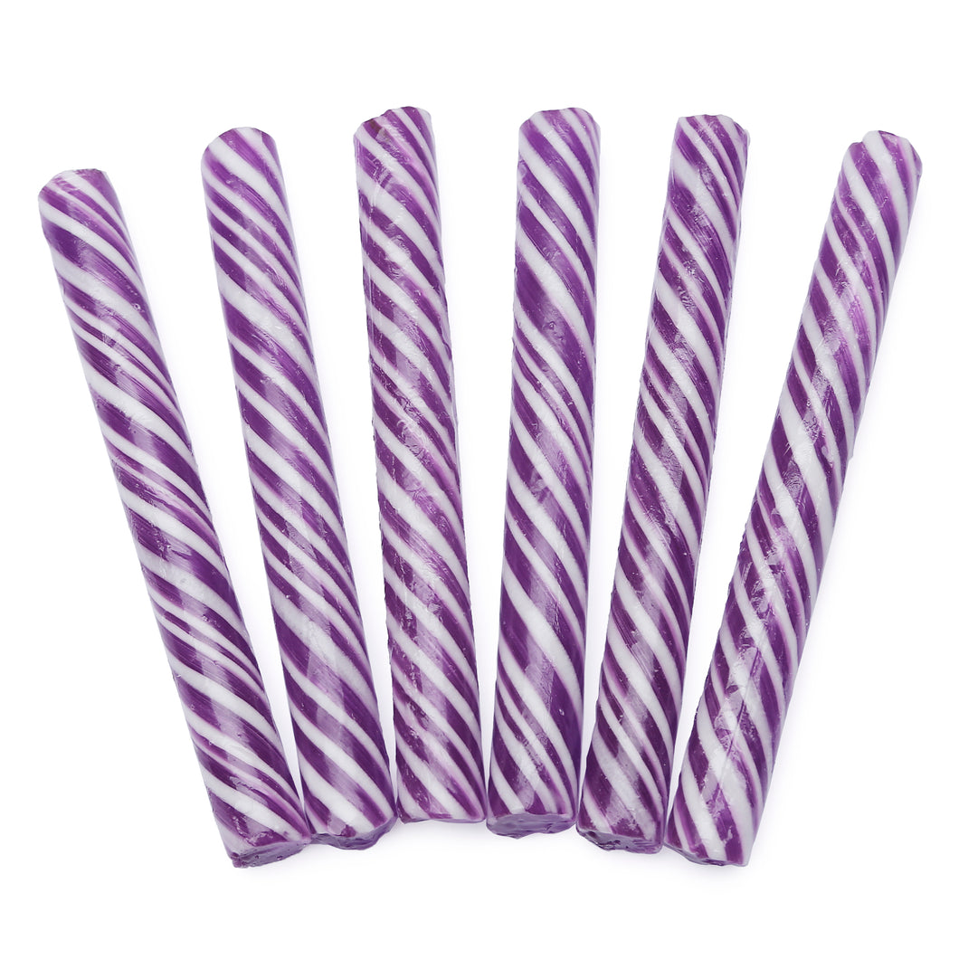 Sweet Spindles Purple Candy Sticks
