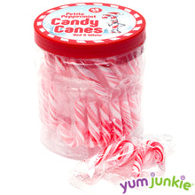 Mini Candy Canes - Red and White: 45-Piece Jar