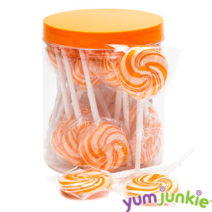 Orange Swirl Lollipops