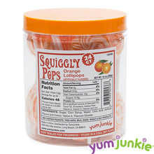 Orange Squiggly Pops