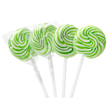 Green Carnival Lollipops
